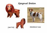 Llavero Piel Auténtica Hombre Mujer Razas Perros Epagnuel Breton