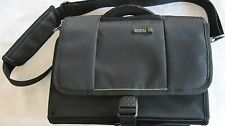 """""""Solo"""" black polyester, expandable travel carrying case, 9"""" X 11"""""""