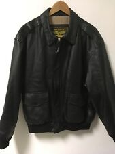 Landing Leathers Men's Air Force A-2 Leather Flight Bomber Jacket Size L