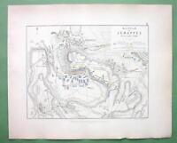 BELGIUM Jemappes & Environs & Battle of 1792 - 1848 Fine Quality Map