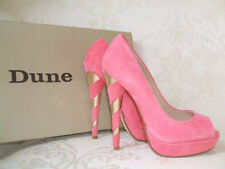 Dune Peep Toes Suede Upper Heels for Women