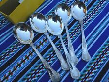 SET OF FIVE VINTAGE SOUP SPOONS JAMES RYALS LTD SHEFFIELD