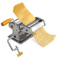 Macchina Pasta Fresca Manuale Cucina Stendi Impasto Acciaio Inox 2 Rulli 180mm