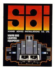 1970s Sound Advice Installations catalogue DJ Sound+Lighting Equipment brochure