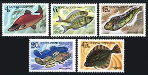 Russia 5164-5168, MNH. Food Fish, 1983