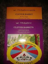 ... 2 booksClever Rabbit and Pon-tiger,clever rabbit and free tibet sticker