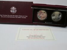 1995 US Olympic Track & Field & Cycling 2 Coin Proof Commemorative Set