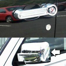 Mirror+4Dr Handle Covers For 2007-2012 DODGE NITRO JEEP LIBERTY 2008-2013 Chrome