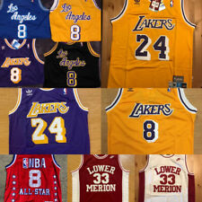 Kobe Bryant Los Angeles Lakers Men's Vintage #8 or #24 Throwback Jerseys