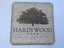 Beer Collectible Coaster ~ HARDYWOOD PARK Brewery Singel Ale; Richmond, VIRGINIA