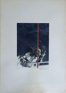 Cesco Magnolato acquaforte acquatinta Incontro 70x50 firmata numerata anno 1976