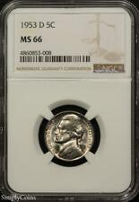 1953-D Jefferson Nickel ~ NGC MS66 ~ STUNNING!