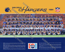 1984 SAN DIEGO CHARGERS 8X10 TEAM PHOTO PICTURE FOUTS KELLEN WINSLOW JOINER