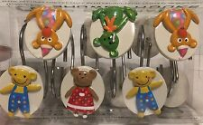 SHOWER CURTAIN HOOKS RINGS - Little People And And Bears  DECORATIVE Kids