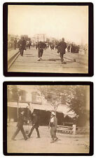 STREET SCENE IN CONSTANTINOPLE/ISTANBUL,TURKEY & TWO ORIGINAL 1890s KODAK PHOTOS