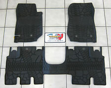 14-2018 Jeep Wrangler JK Unlimited All Weather Rubber Slush Floor Mat Set Mopar