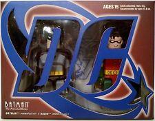 """BATMAN & ROBIN The Animated Series 2"""" Kubrick Mini Figures 2-pack Medicom 2010"""