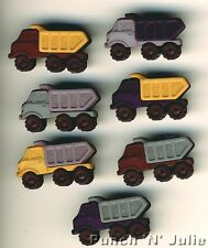 DUMP TRUCKS Dustbin Bin Men Man Boy Lorry Transport Dress It Up Craft Buttons
