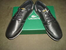 LACOSTE SHOES BLACK DREYFUS SPM SIZE 11.5 US, 10.5 UK, EUR 45