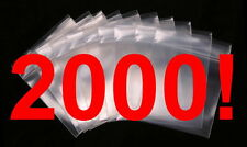 """2000 - 2"""" x 3"""" Zip Lock 2x3 Resealable Plastic Bags 2 MIL Reclosable Poly Clear"""
