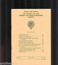 OMRS  vol 25  # 3  1986  Journal Orders & Medals Research Society  UK MEDAL MAGZ