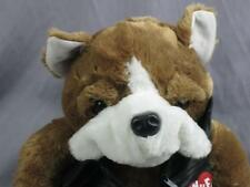 Big I Wuff You Bulldog Plush Leather Jackets Dandee Motorcycle Biker Plush Toy