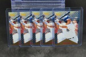 (5) Lot 1996 Pinnacle Derek Jeter Rookie Card RC #171 Yankees D306