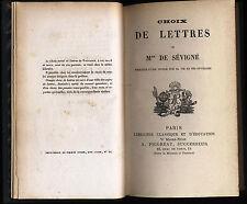 Choix moral de lettres Mme de sévigné Pigoreau Tome 3