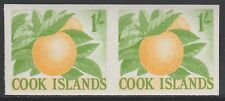 Cook Islands (1864) - 1963 definitive 1s Oranges IMPERF PAIR unmounted mint