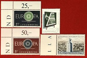ZAYIX - Luxembourg  - Four different MNH - Europa