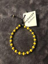 Karmlet, Karmlet Ankle Bracelet, Beachwear Anklet, Nickel And Yellow Glass Beads
