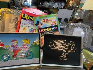 Pair of Lite Brite Sets--Disney & Day Fun Pix/Extra Lites/Paper.-In Boxes....jor