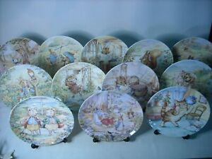 Choose ONE OR MORE Plates Danbury Mint WORLD OF BEATRIX POTTER Wedgwood Plate