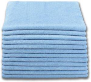 5 x Blue Microfibre Cleaning Car Wash Polishing Cloths Towels 40x40