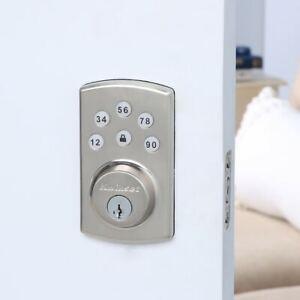Kwikset Powerbolt2 Electronic Deadbolt Door Lock - Satin Nickel (99070-101)(897)