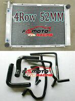 Aluminum Radiator+ Black Silicone Hose For Holden Commodore VG VL VN VR VS V8 AT