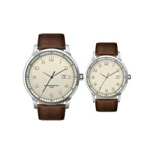 Italian Quartz Women's Analogue Leather Strap Water Resistant Steel Wristwatch