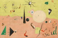 Joan Miro The Hunter Giclee Art Paper Print Paintings Poster Reproduction