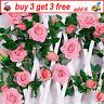 Artificial Silk Rose Flowers Fake Vine Ivy Hanging Garland Floral Wedding QW