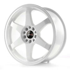 "Japan Racing JR3 18"" x 8J ET30 5x114.3 5x120 blanc roue en alliage x1 unique Y1898"