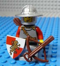 Lego Minifig Castle Kingdoms Lion Knights Scale Broad Brim Vertical Cheek x1PC
