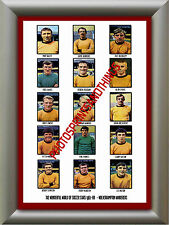 WOLVES - 1967-68 - REPRO STICKERS A3 POSTER PRINT