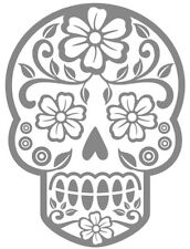 Custom Vinyl Car Decal for Wine Glass Coffee Mug Gift SUGAR SKULL Day of Dead