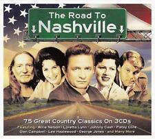 THE ROAD TO NASHVILLE - 75 GREAT COUNTRY CLASSICS - VARIOUS ARTISTS (NEW 3CD)