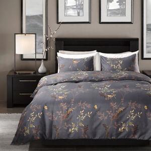 Modern Gray Duvet Cover Bedding Quilt Set Pillowcases Single Double King US Size