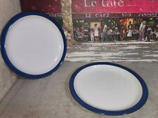 Denby Imperial Blue Dinner Plates X 2 ( Seconds )