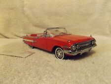 VINTAGE 1960 CHEVROLET IMPALA RED CONVERTIBLE FRANKLIN MINT 1:24 DIECAST--IN BOX