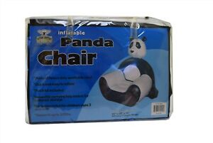 Sitter Critter Inflatable Kid's Furniture Black & White Panda Chair NEW