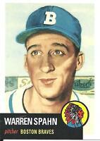 2011 Topps 60 Years of Topps Warren Spahn card, Boston Braves HOF