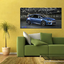 2016 FORD FOCUS RS AWD RALLY SPORTS CAR AUTOMOTIVE LARGE HD POSTER 24x48in